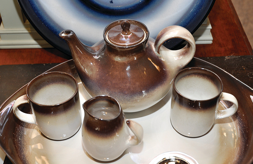 Tea pot $42, Tea cups, $10