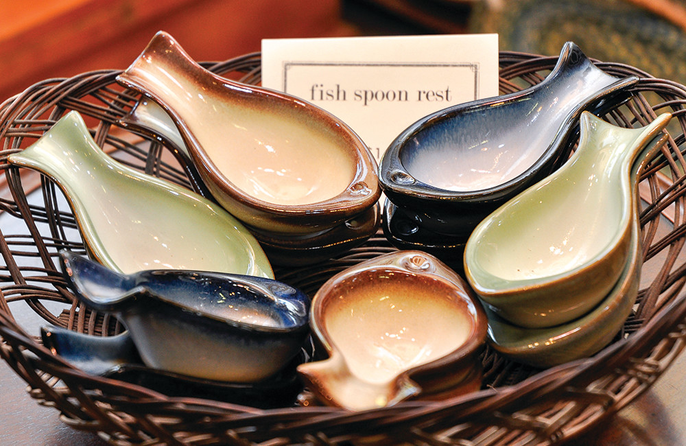 Fish spoon rest, $14