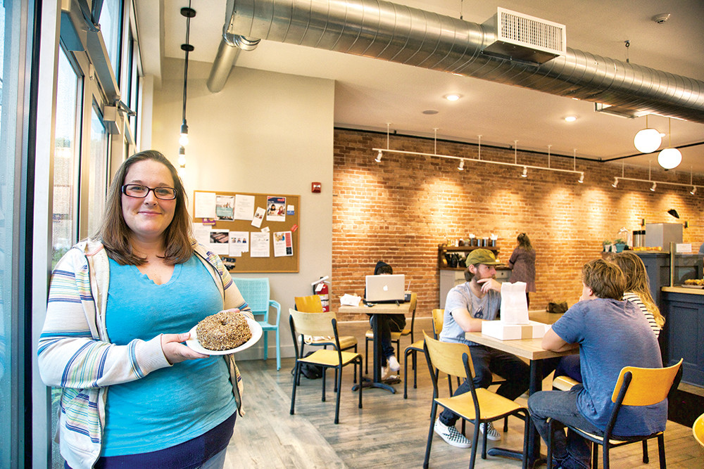 Brit DeCosta, retail manager at KNEAD's newest location on Elmgrove Avenue