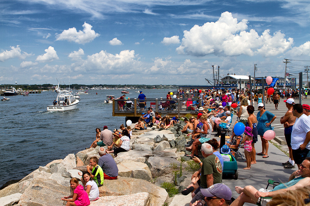 Narragansett celebrates the 47th Blessing of the Fleet Weekend with a seafood festival, a 10k road race, and the annual boat parade in Galilee, July 26-28