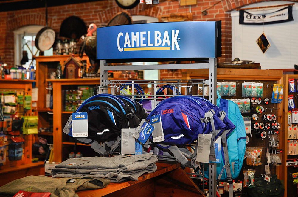 Camelback belts and backpacks, $60-$65