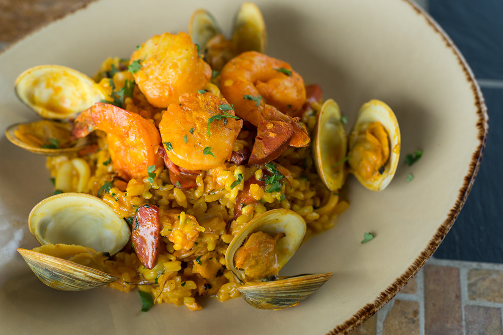 "Seafood Risotto ""Paella Style"""