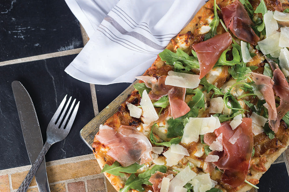 Honey Onion and Prosciutto Flatbread
