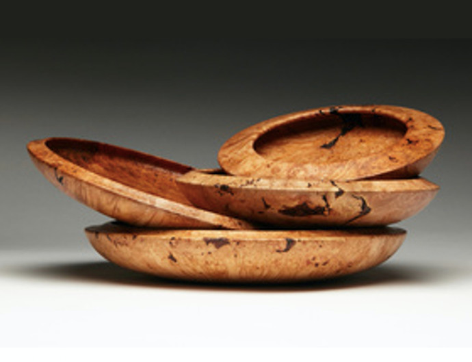 Wine and cheese? Yes please! These artful serving vessels are from Brooklyn-based woodworker Phil Gautreau, who creates dazzling serving plates made from repurposed, locally-sourced wood.