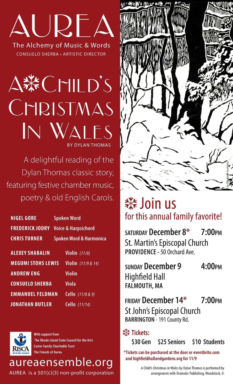 Aurea Ensemble, A Child\'s Christmas in Wales | The Bay ...