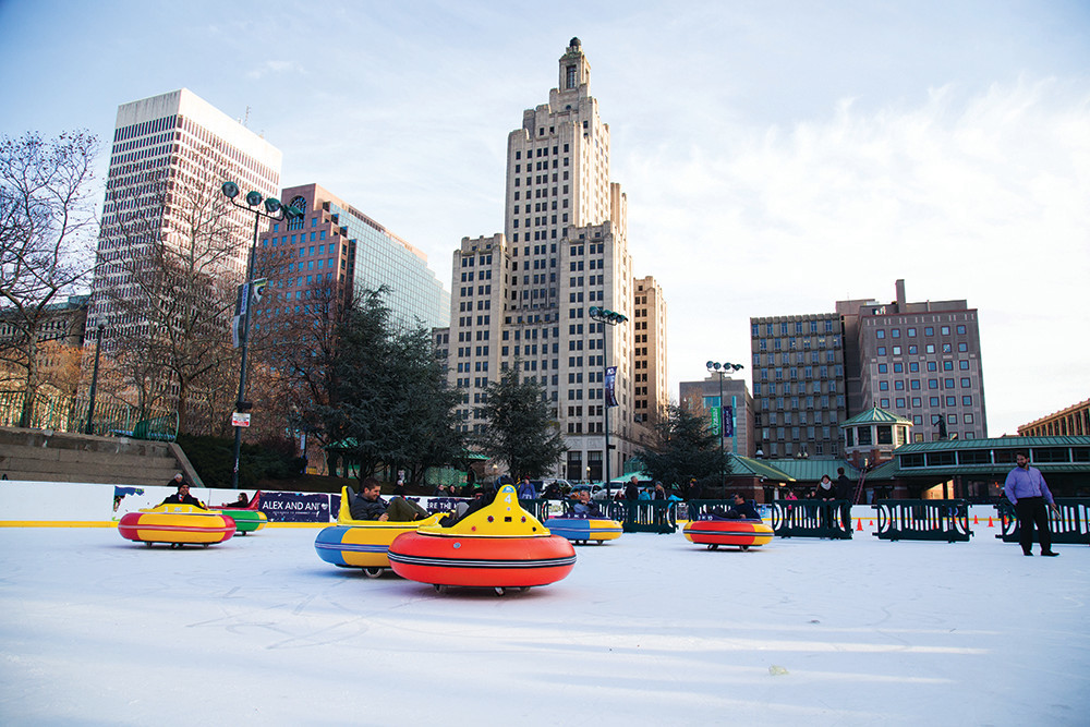 Bumper cars and ice skating are officially back at the Alex and Ani Center, so don your warmest gear and hit the ice.