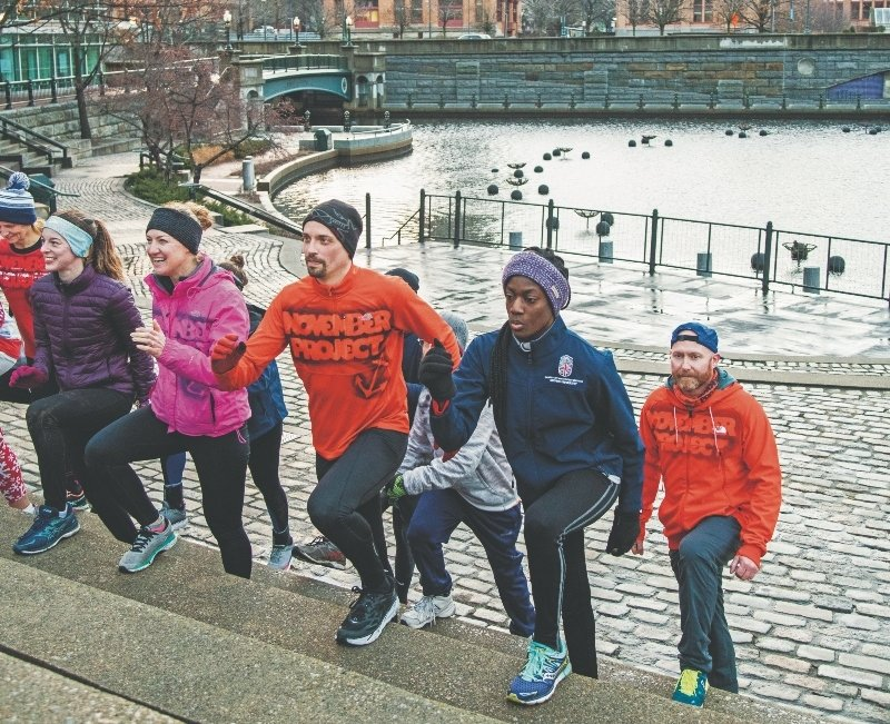 Break an early sweat on Sunday mornings with the November Project's pop-up in Waterplace Park