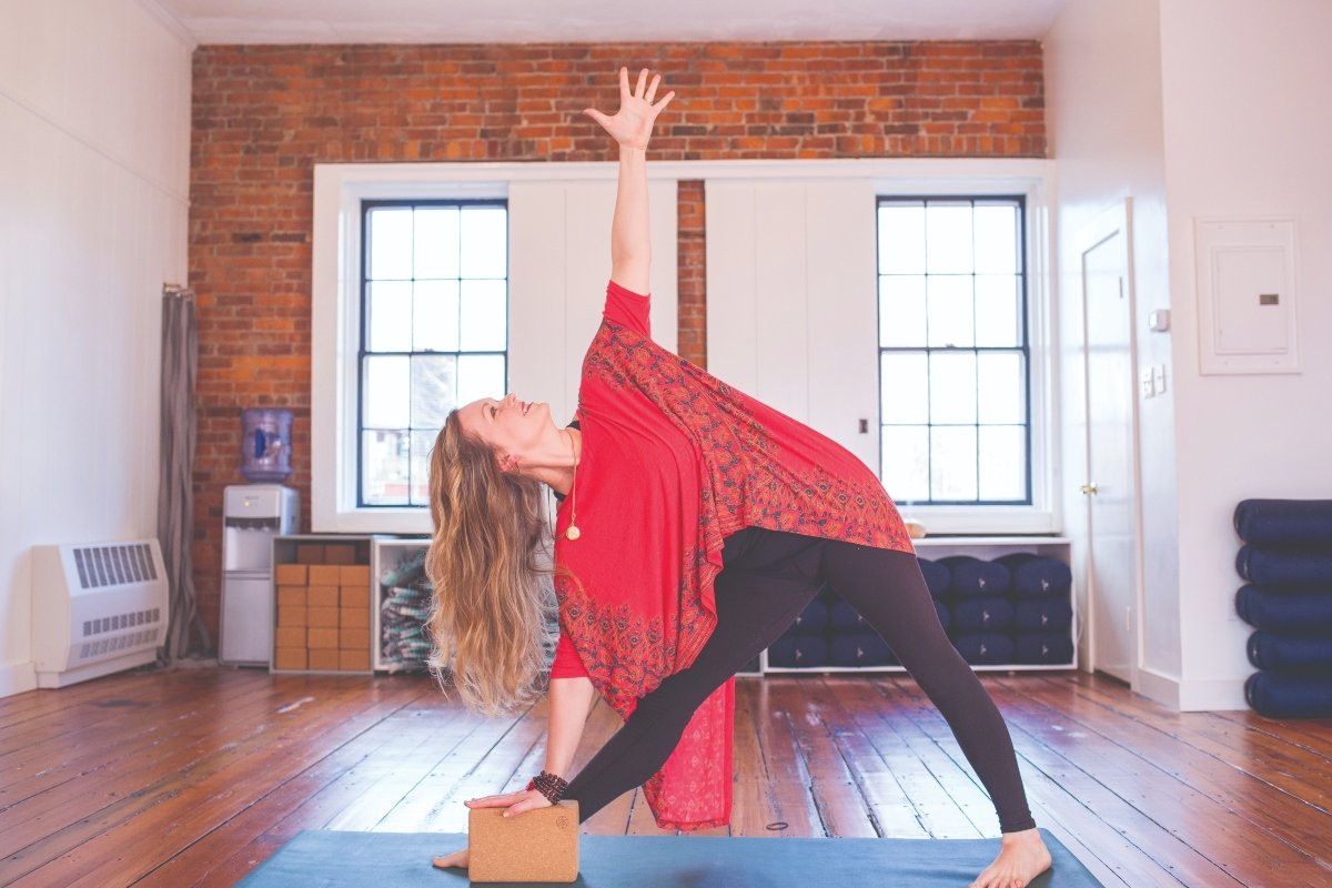 Radiance Yoga owner Eliza Richmond in her studio
