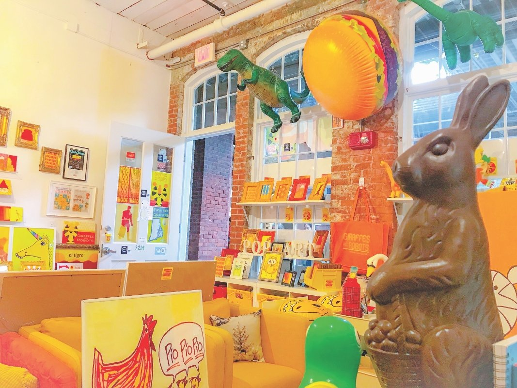 Inside the colorful and creative Giraffes & Robots studio