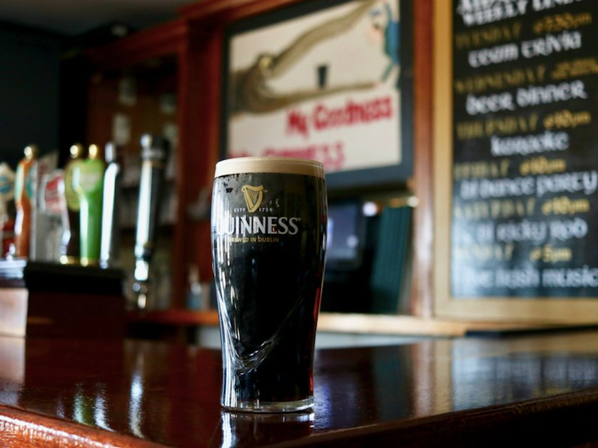 Grab a pint of Guinness from Aidan's Pub to celebrate St. Patty's Day