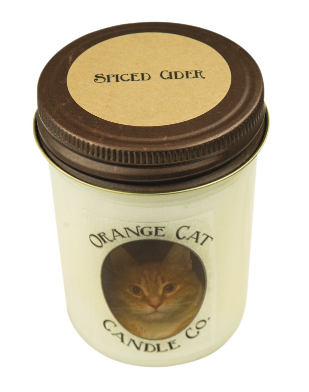 Orange Cat Candle Co.: Hemp-wicked, soy, non-toxic candles made with seasonal scents. 8 oz, $11.50.