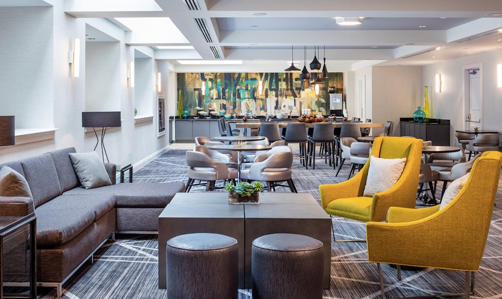 The Renaissance Providence Downtown Hotel boasts modern décor