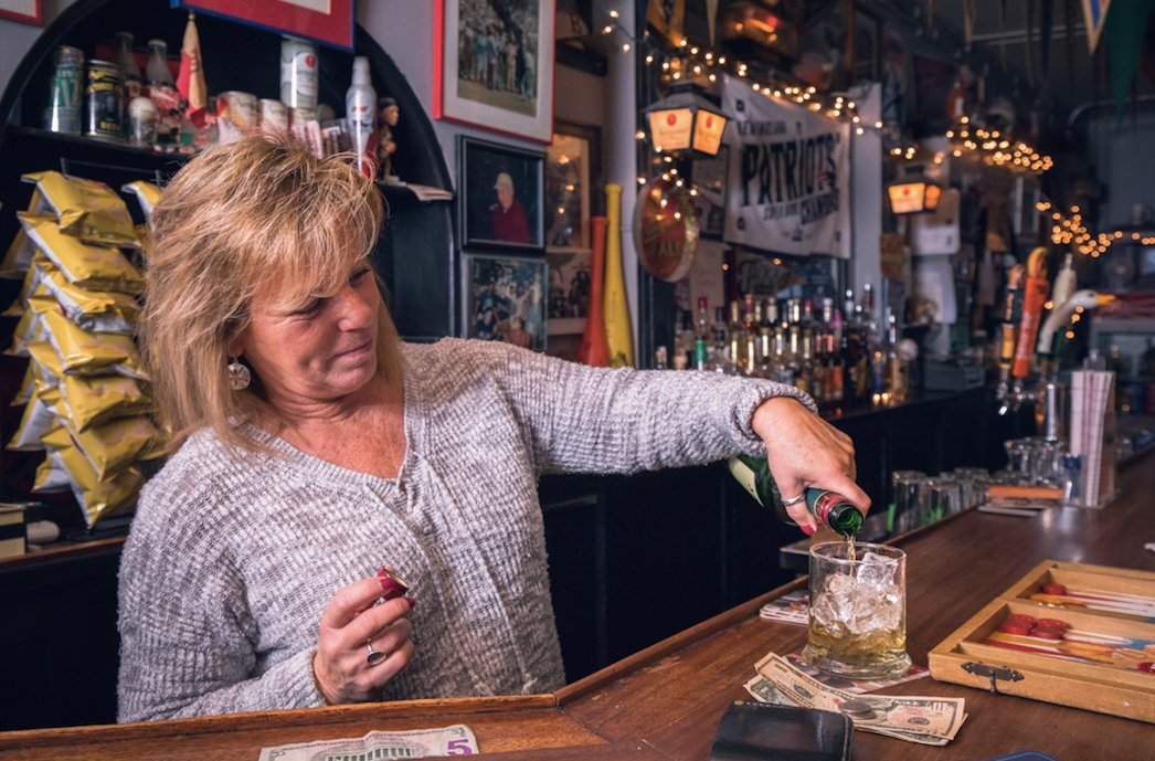 Joan Frederick has been bartending at Jack's for 19 years