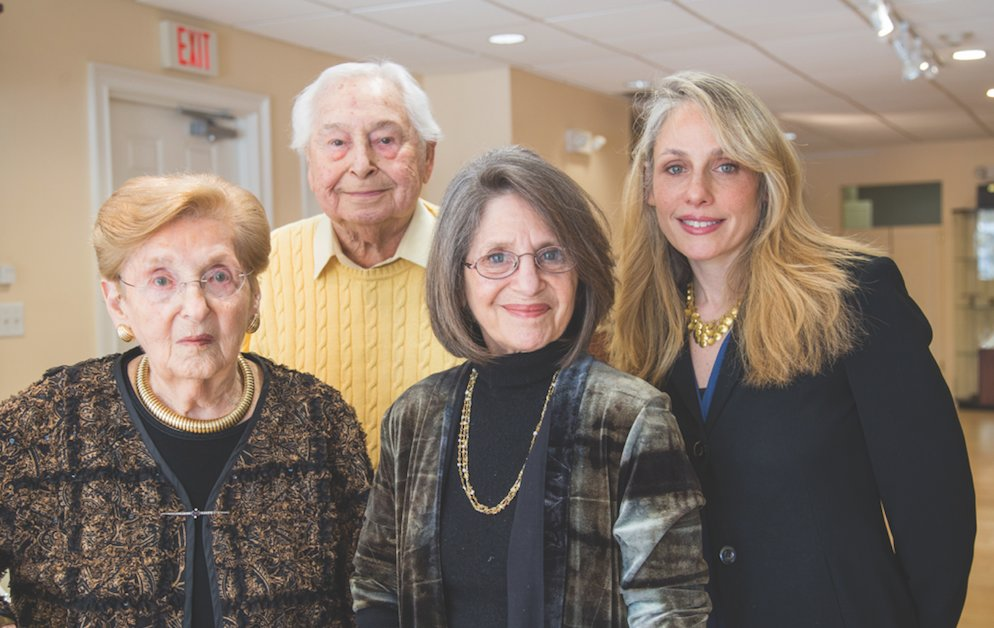 Left to right: Ruth and Leonard Rotenberg, Rena Abeles, and