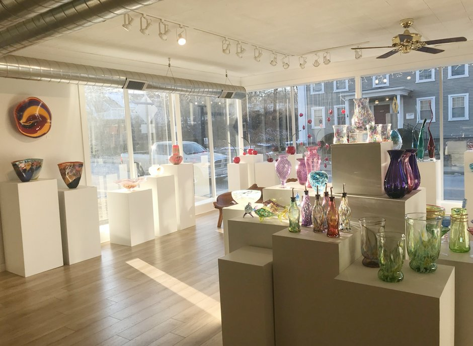The Glass Station is both a studio and gallery space for glassblown art and functional items
