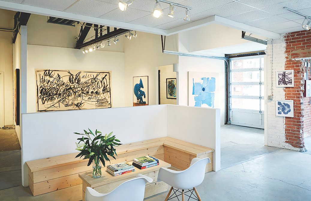 Find OneWay Gallery in an unassuming brick building minutes from the shoreline