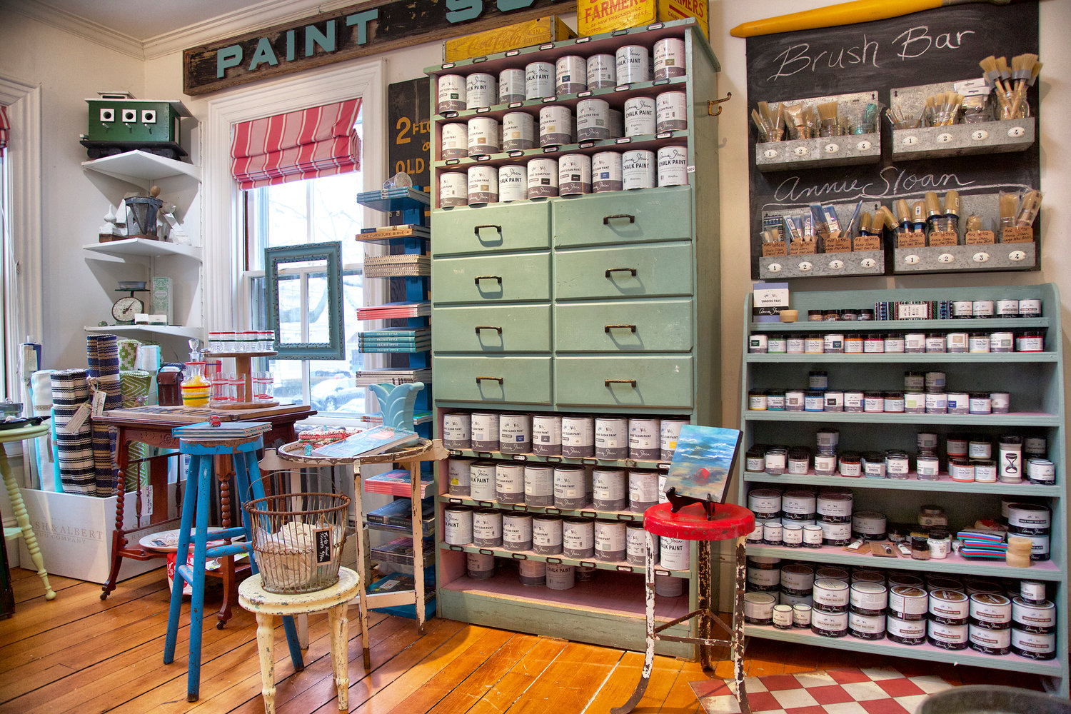 A quick coat of Annie Sloan Chalk Paint® is an upcycler's dream (sold at Sea Rose Cottage)