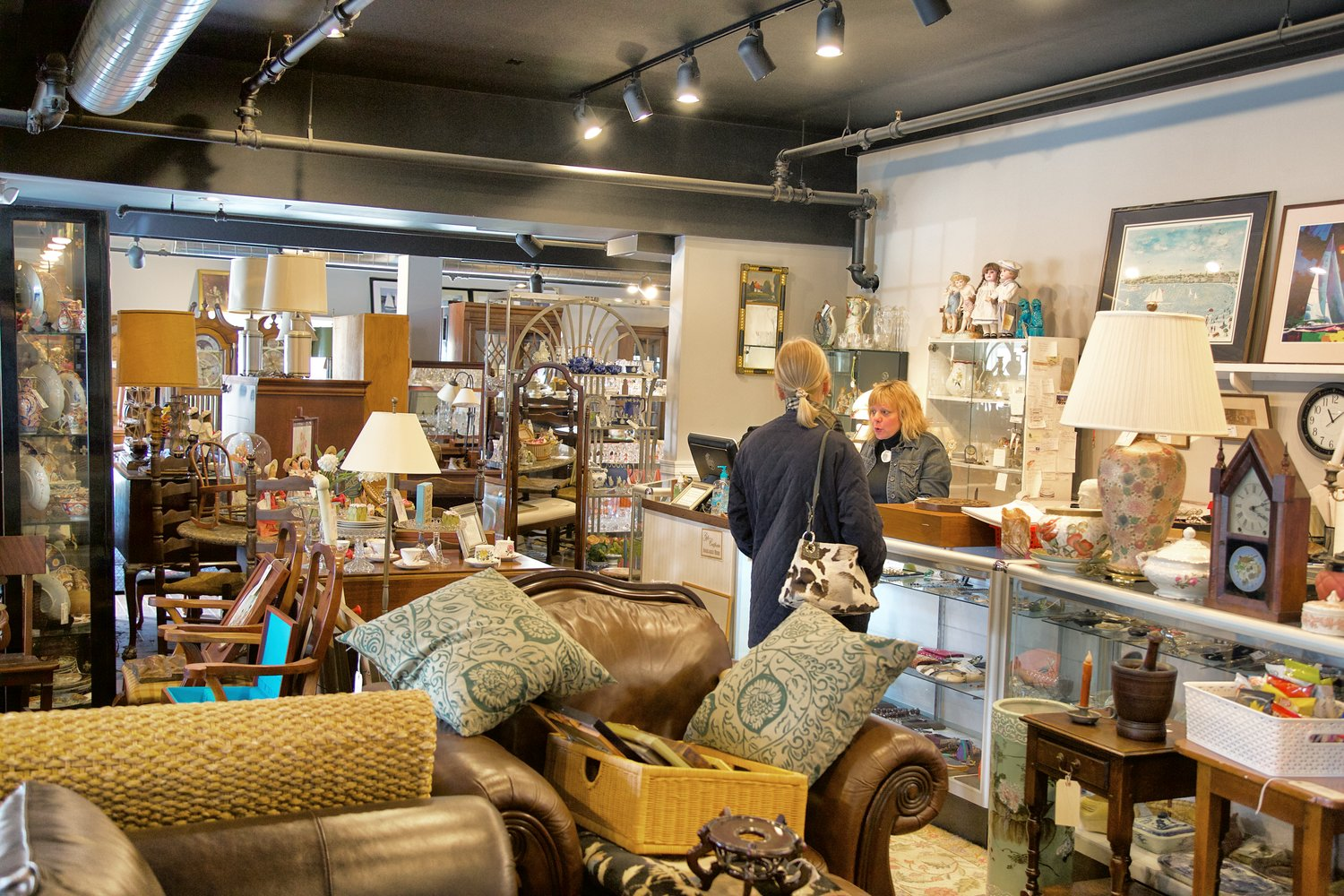 From wicker to wood, Alfred's offers antiques to add character to any home