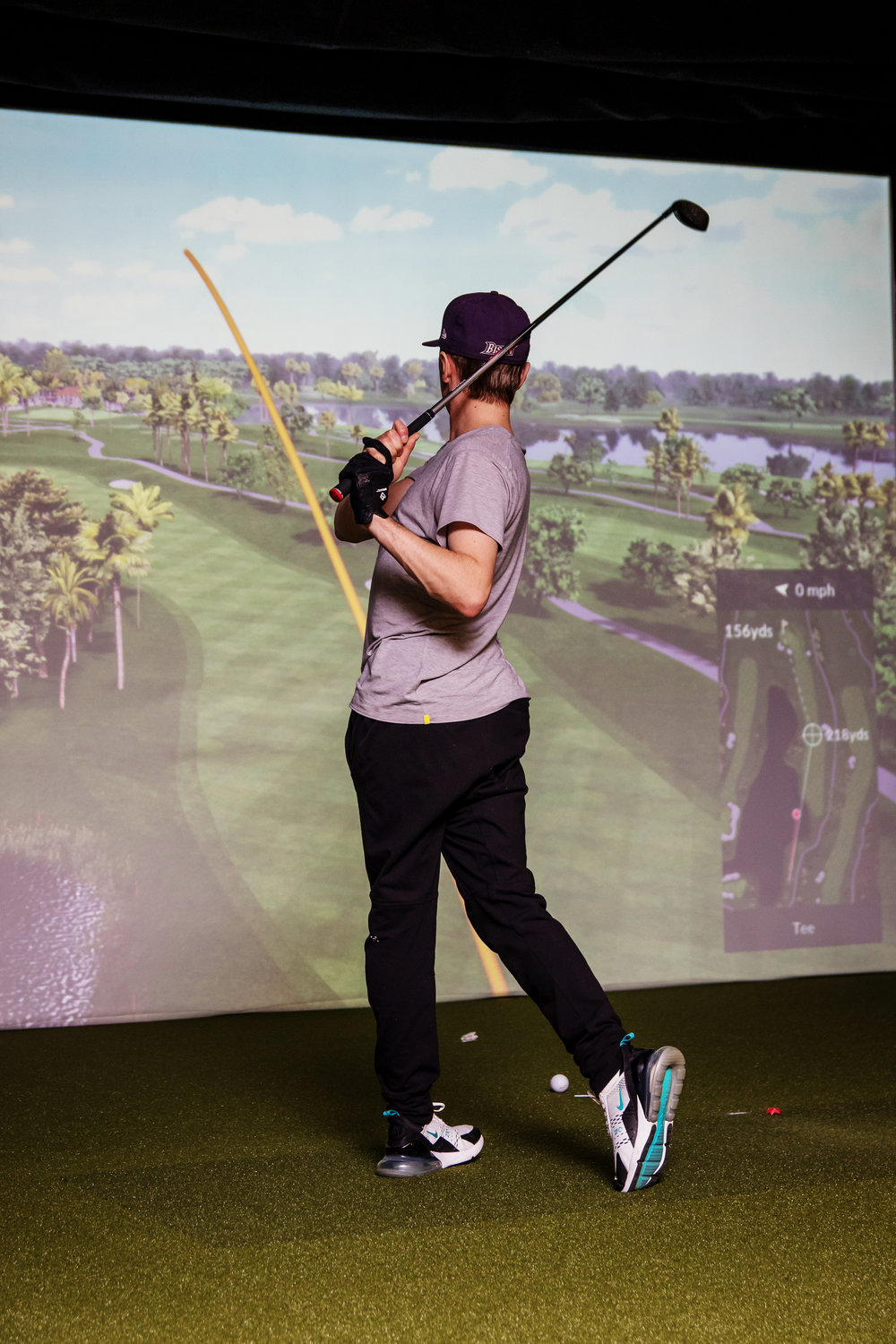 The Trackman 4 simulates famous courses from around the globe, the same tech pro golfers use