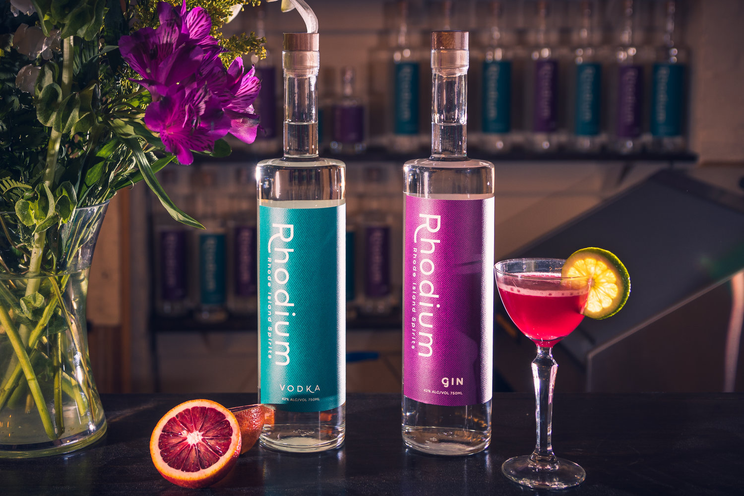 Rhode Island Spirits is new to the scene, offering inventively flavored vodka and gin