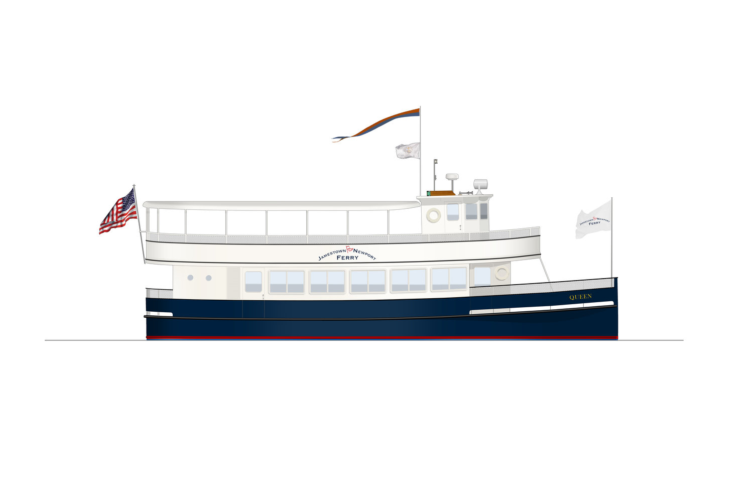 Artist rendering of the restored Coastal Queen