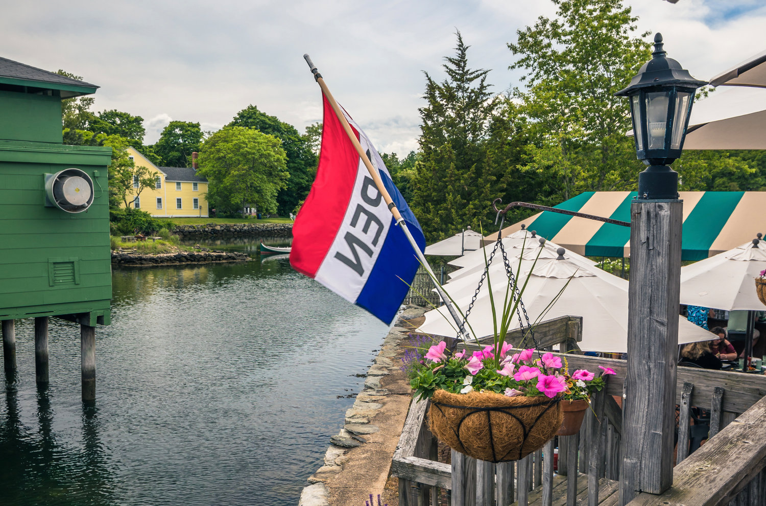 Housed in an historic building, Tavern By The Sea overlooks
