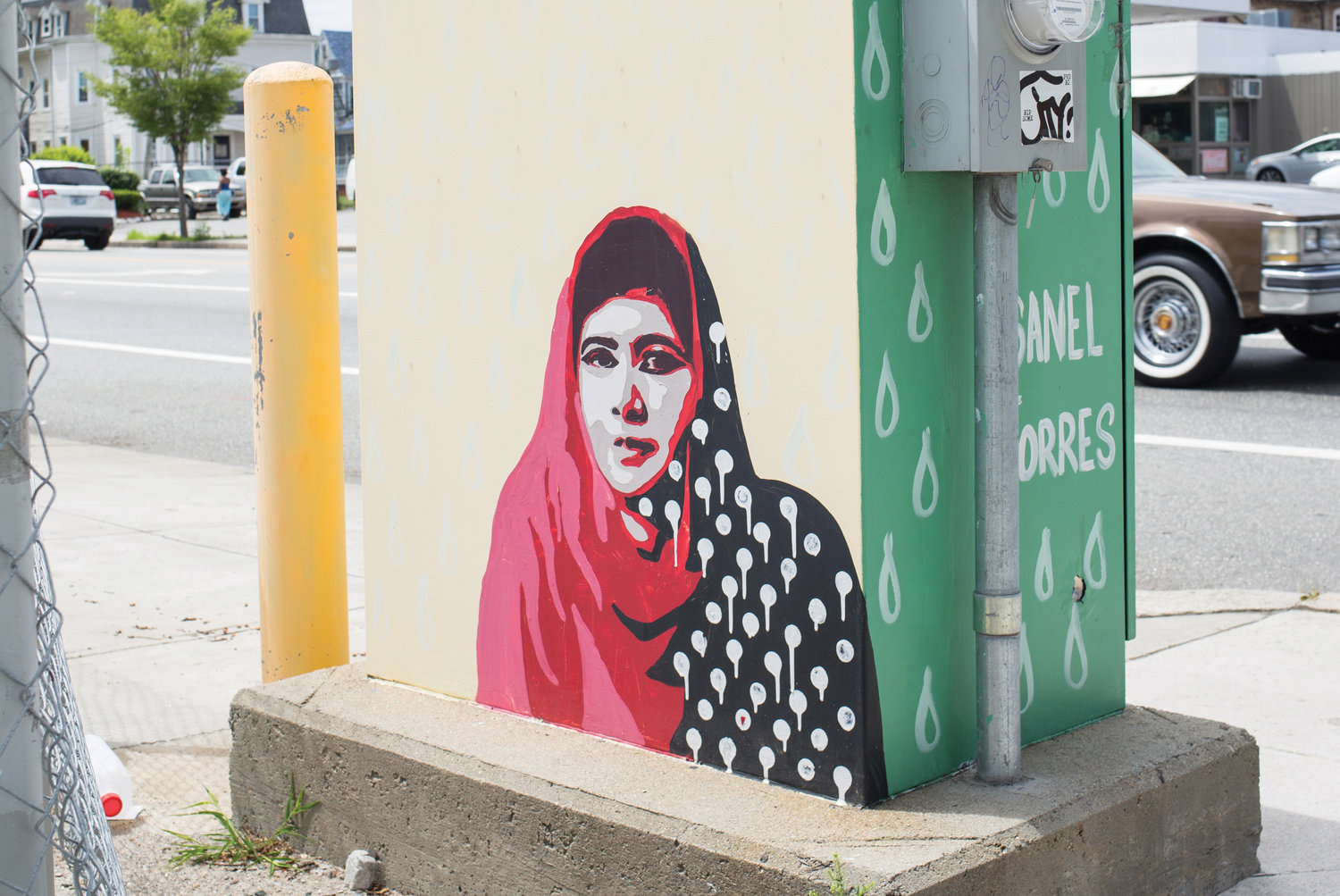 Malala's polka dots drip to 