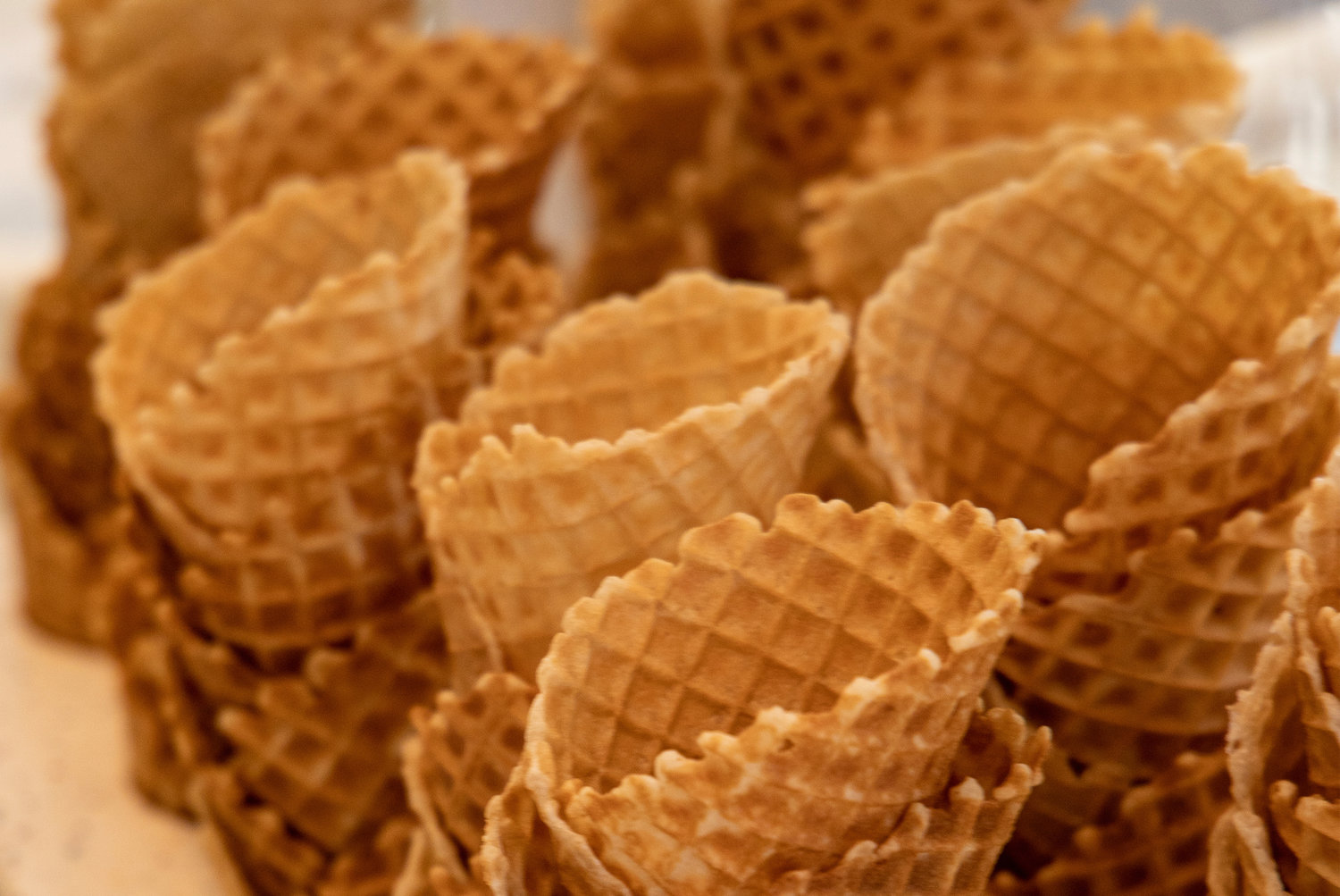 Fresh-made waffle cones 