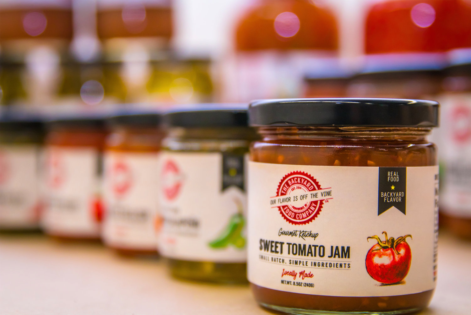 Backyard Food Company makes a variety of sauces, jams, relishes, and more