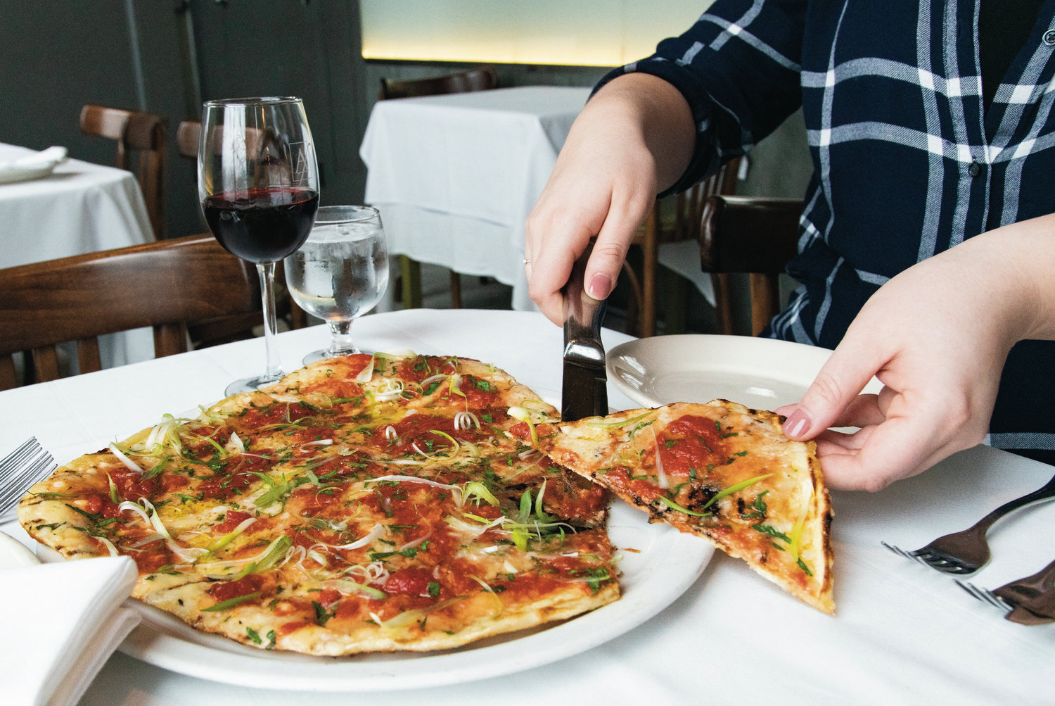 Find grilled pizza at Al Forno in Providence