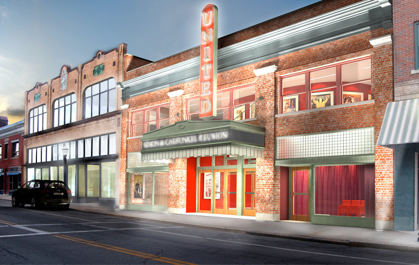 Artist rendering of United Theatre's soon-to-be new look