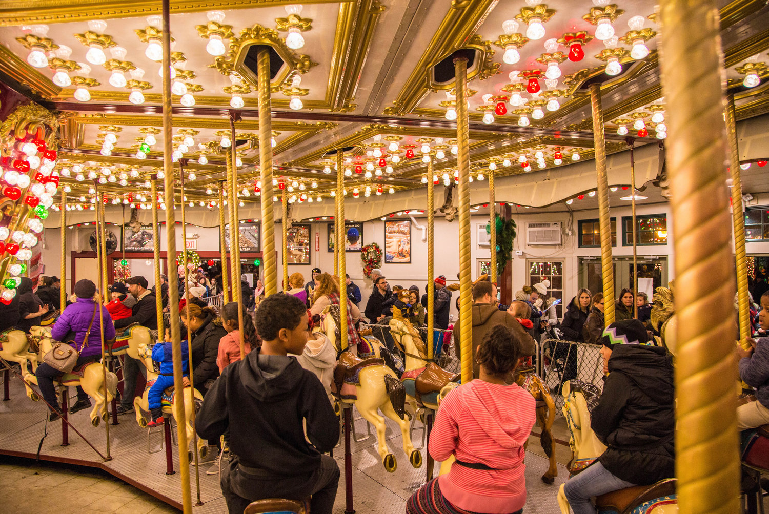 The Roger Williams Park Carousel all decked out 
