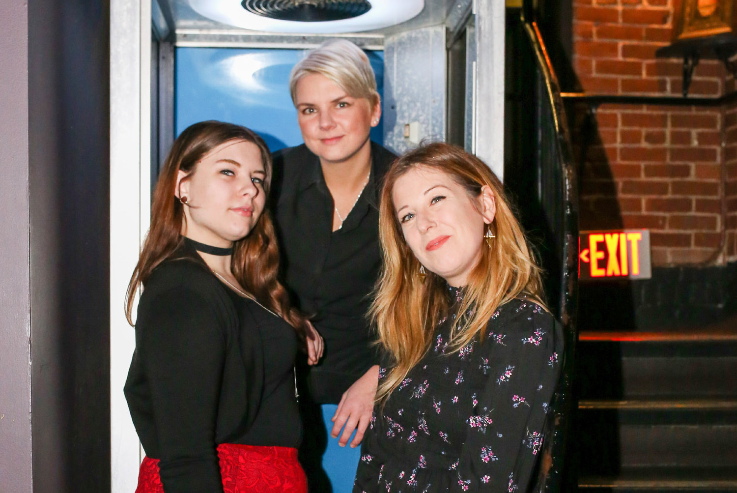 Left to right: Cherry Pit members Amelia Rose, Julie Bozek, and Chelsea Paulhus