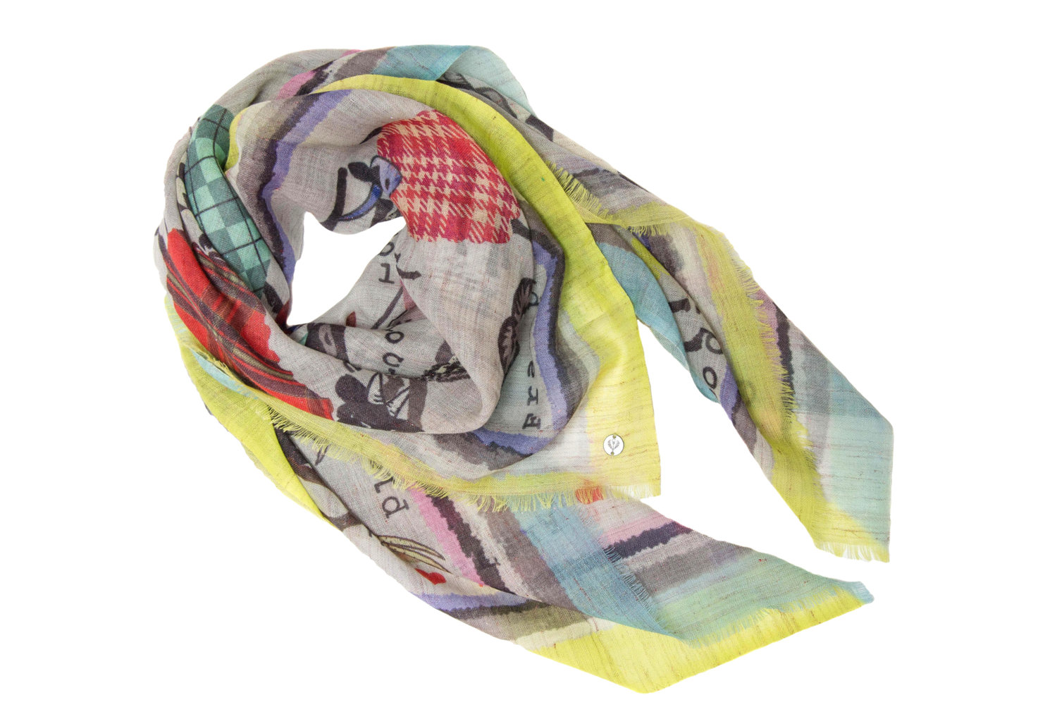 Fraas Fashion Goats Scarf in Multi, $57