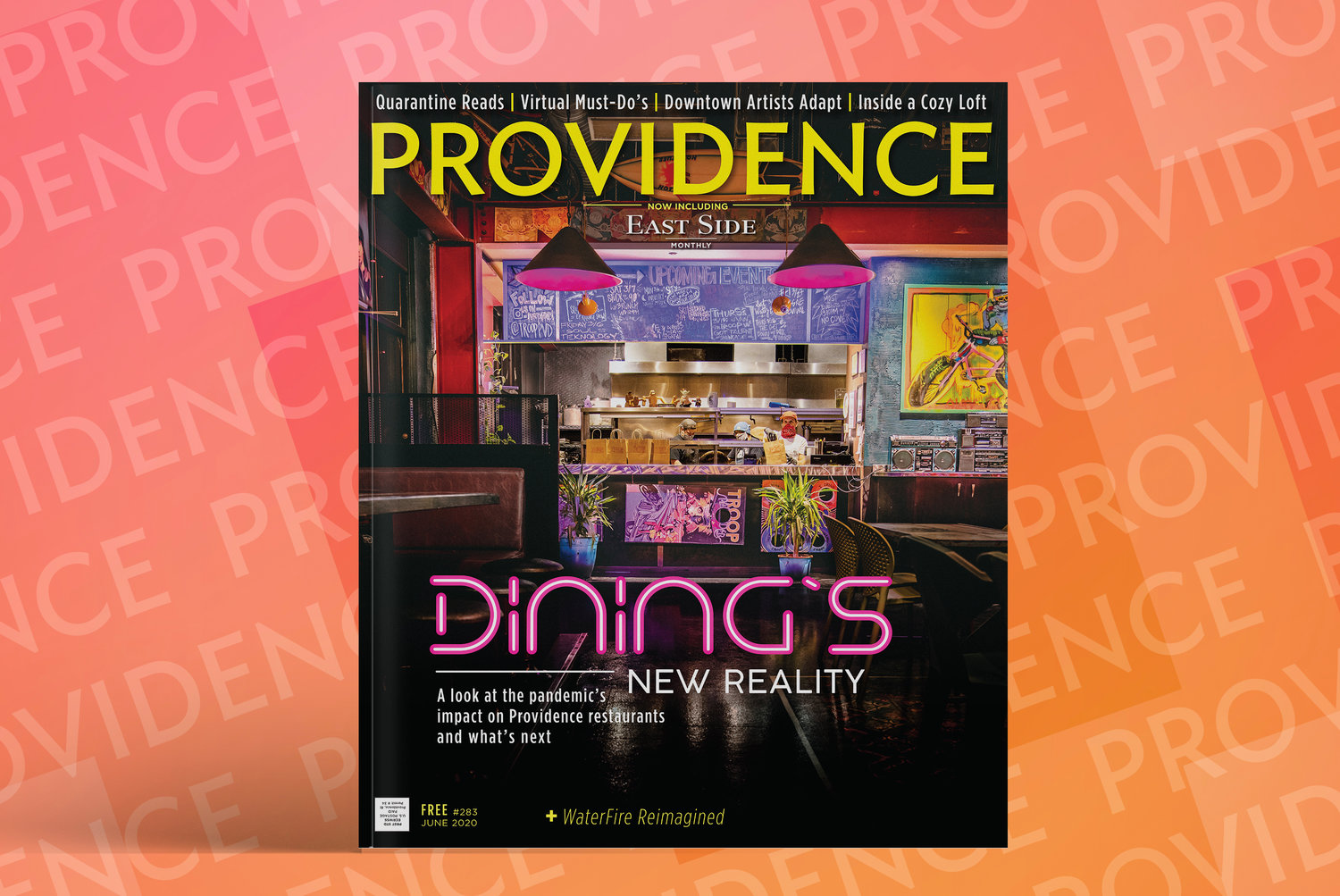 Cover of the premiere issue of the relaunched Providence Monthly