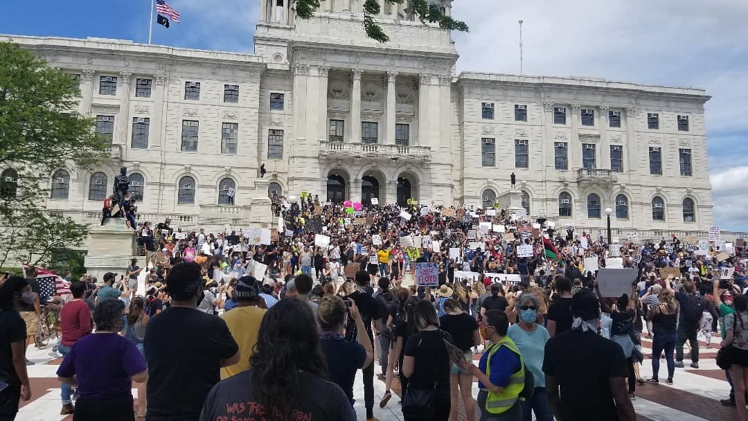 May 30th George Floyd Rally at the Rhode Island State House