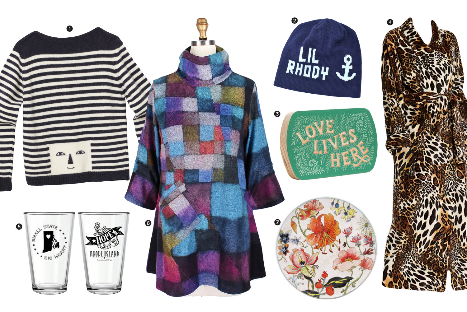 1.  Striped sweater, Simple Pleasures