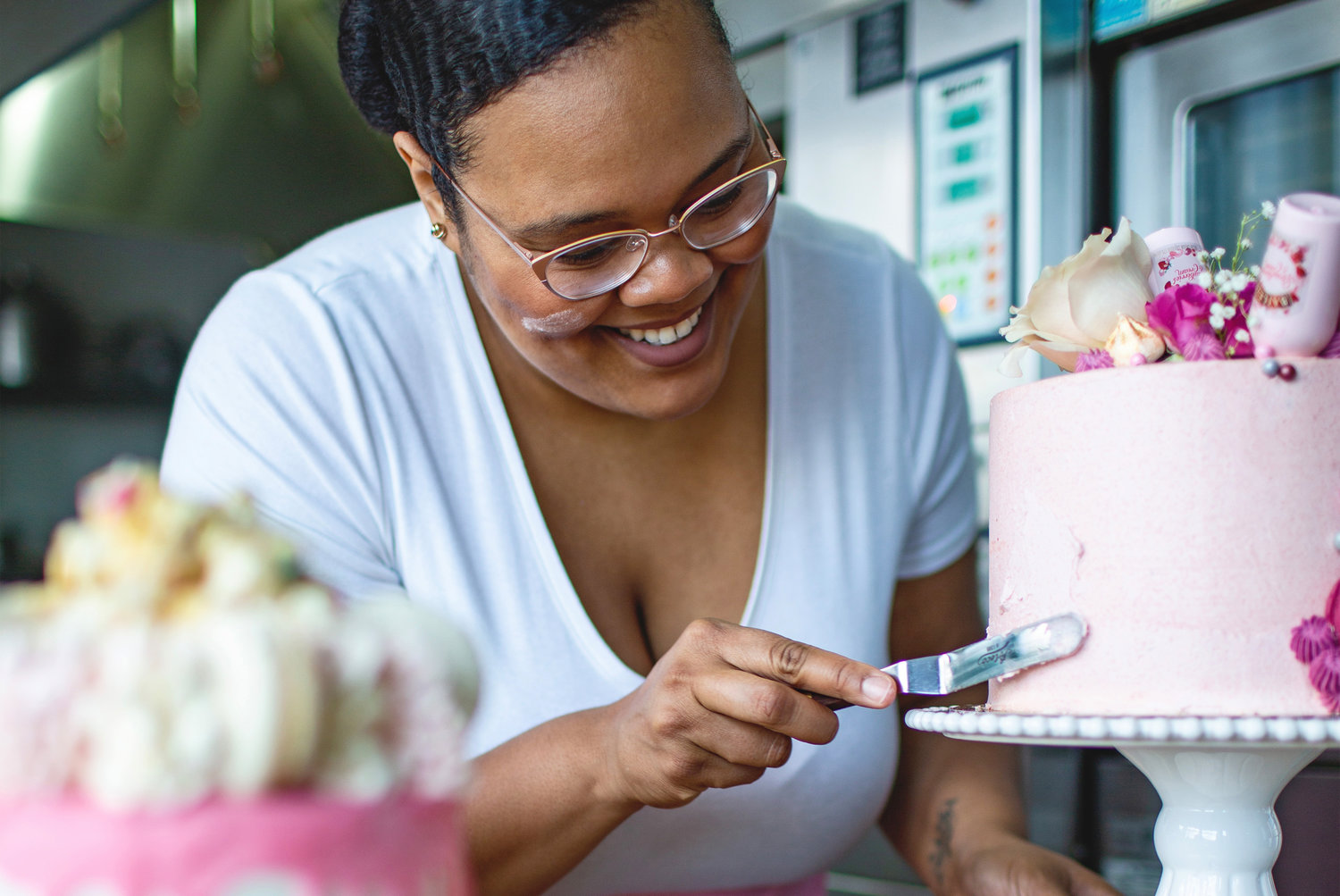 Schantel Maxine Neal carries on her grandmother's legacy, baking and frosting fresh cakes out of Hope & Main