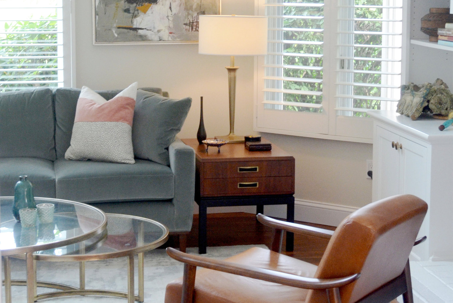 Plantation shutters help insulate during cold months