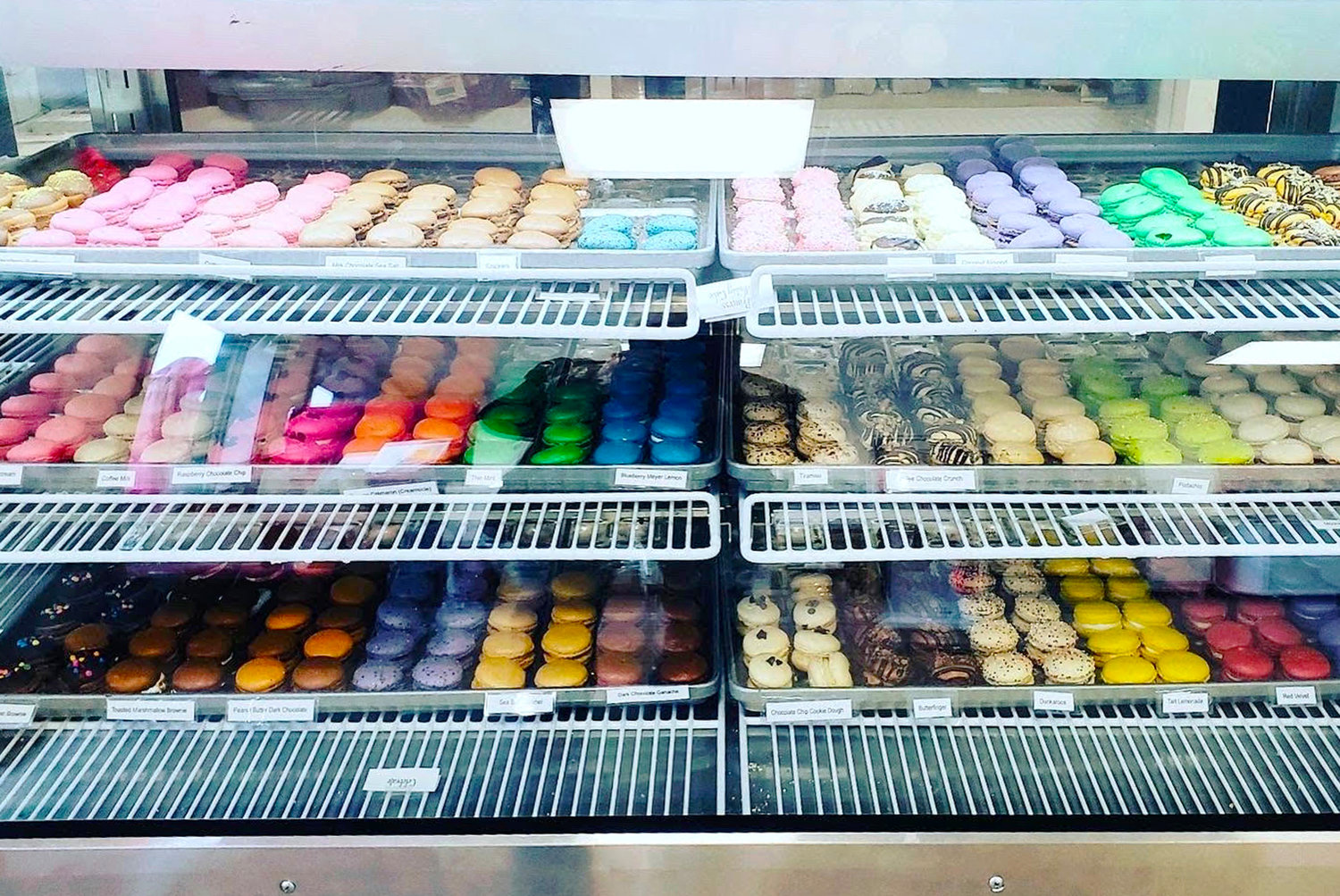 Colorful macarons at The Perfect Sweet Shoppe in Warren
