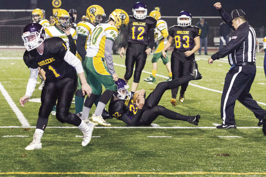 The Quilcene Rangers advanced from the Class 1B district playoffs to the state quarterfinals after they beat Darrington 62-24 on Nov. 9 at Silverdale Stadium.