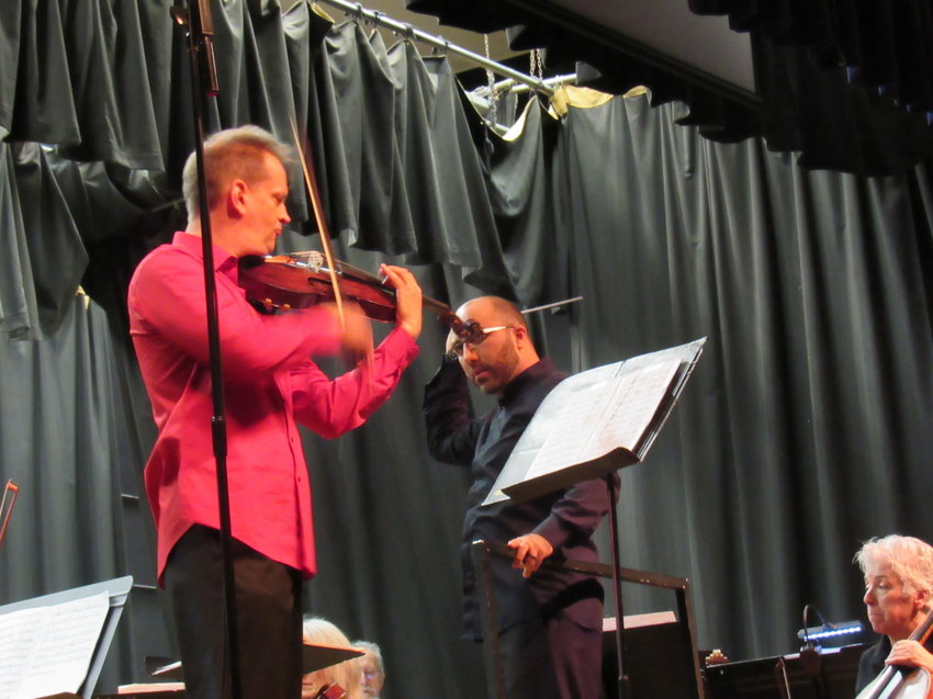 """Violist Matthew Daline, a former Port Townsend High School student, presented an encore on Oct. 28 with his solo work of """"Suite Hebraique for Viola and Orchestra."""""""