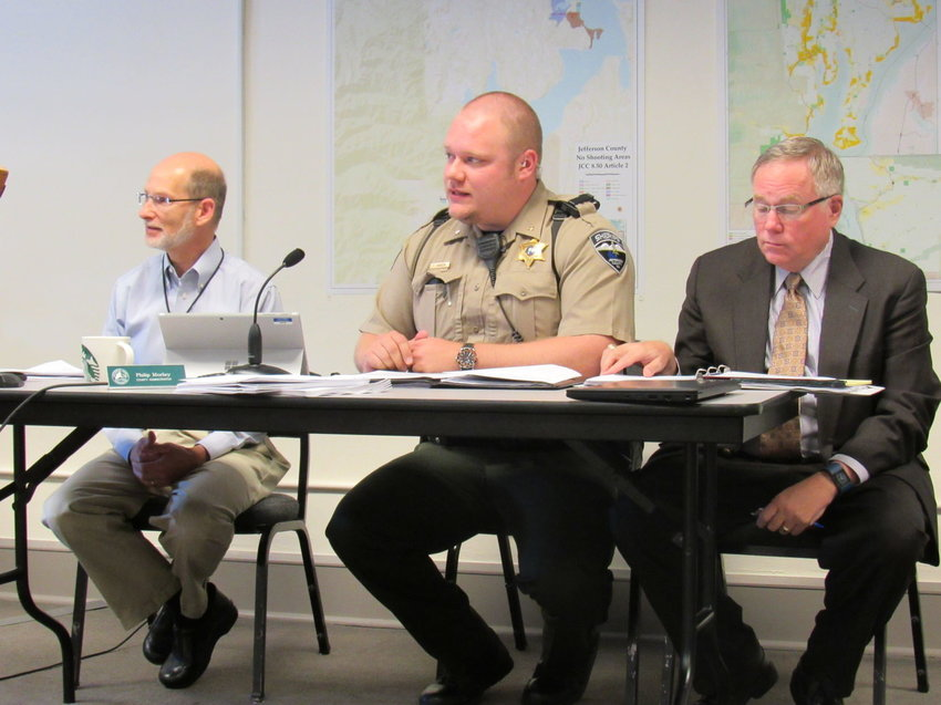 Jefferson County Sheriff's Office Chief Civil Deputy Trevor Hansen ran down a few changes that may be coming to the she riff's civil division if approved in the next commissioners meeting. Leader photo by Jimmy Hall