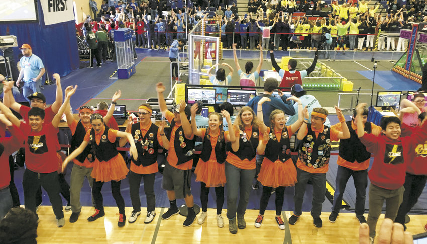 The Port Townsend Robotics team cut loose during their competition season at the district level, taking home an award for quality.