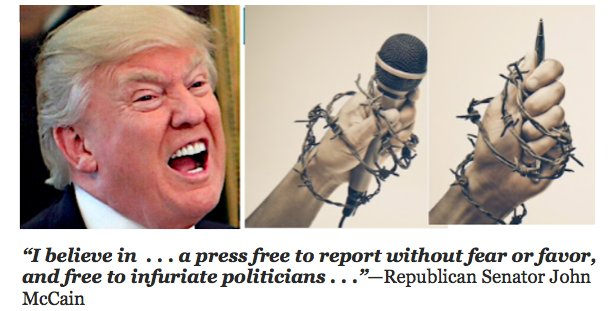 Big-mouth Donald wants one-way street for speech
