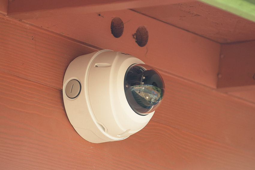 Cameras like this one have been installed around Port Townsend School District schools. At a meeting Thursday, Nov. 16, the district is set to discuss who has access to video recordings and how long records are to be kept. Photo by Chris Tucker