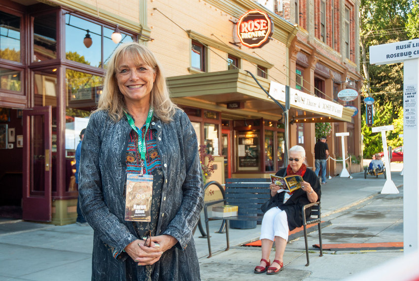 Karen Allen stands outside The Rose Theatre on Friday, Sept. 15 during the 18th annual Port Townsend Film Festival. This is her third year at the festival. Photo by Chris Tucker