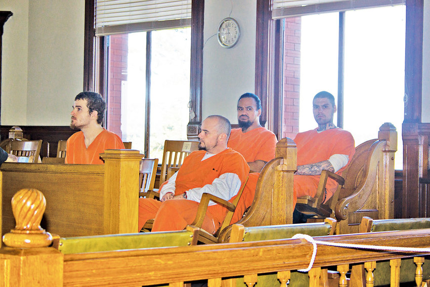 Frankie Gene Bocook Jr., 39 (second from left), awaits his sentencing in Jefferson County Superior Court on May 19. Photo by Kirk Boxleitner