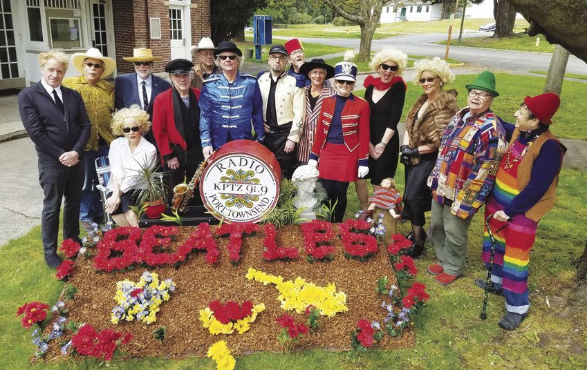 "Musicians and volunteers in KPTZ-FM's Beatles tribute concerts, set to take place Saturday and Sunday, May 6-7, dress up to re-create the Beatles' ""Sgt. Pepper"" album cover. Both concerts are to include photo ops with the performers. Courtesy photo"