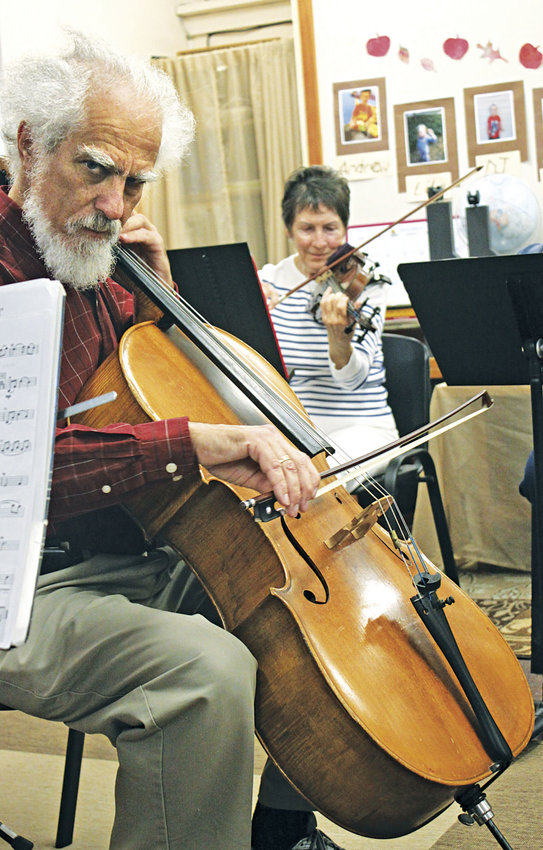 Fred Nussbaum (left) is to direct the Port Townsend Family Orchestra concert at 6 p.m. on Wednesday, May 24 at Seaport Landing, 1201 Hancock. The Family Orchestra offers a way for musicians and music lovers, young and old, beginners and experienced, to enjoy playing orchestral music together, said Nussbaum. Leader file photo